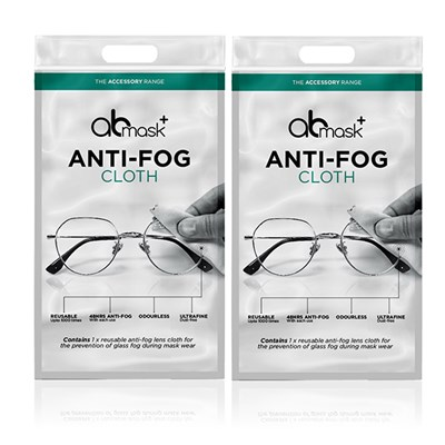 Anti-Fog Reusable Cloth Twinpack by AB Mask