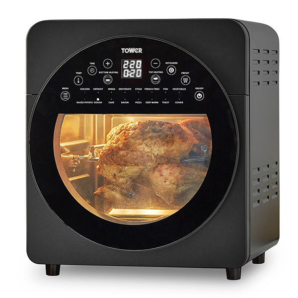 Tower Vortx T17051BLK Air Fryer Oven and Rotisserie 14.5L No Colour