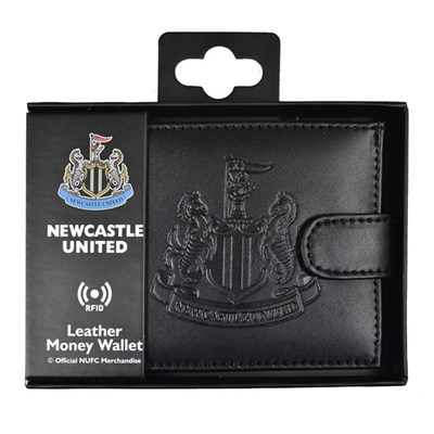 Newcastle United Official FC RFID Embossed Leather Wallet