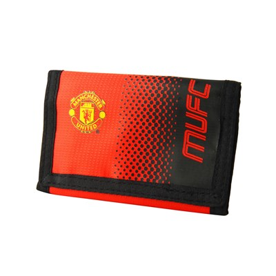 Manchester United FC Official Fade Touch Fastening Football Crest Wallet