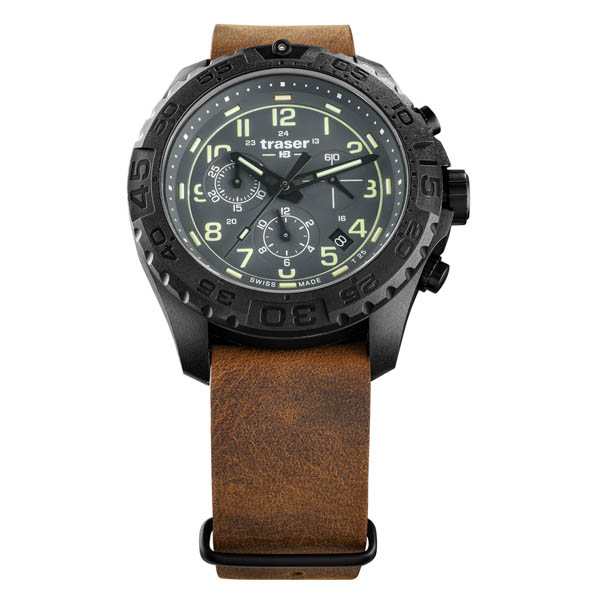 Traser Gents Swiss Made P69 Evolution Chronograph Watch on Nato Strap Grey