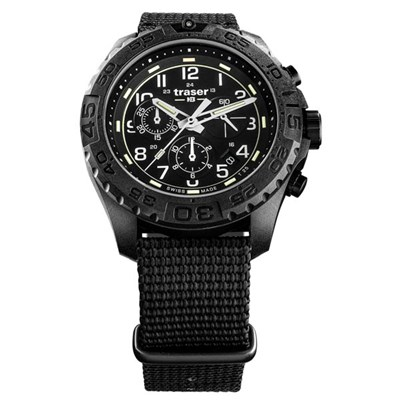 Traser Gents Swiss Made P69 Evolution Chronograph Watch on Nylon Nato Strap