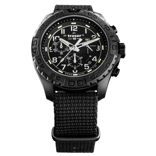 Image of Traser Gents Swiss Made P69 Evolution Chronograph Watch on Nylon Nato Strap