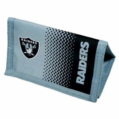 Oakland Raiders Official NFL  Fade Crest Design Wallet