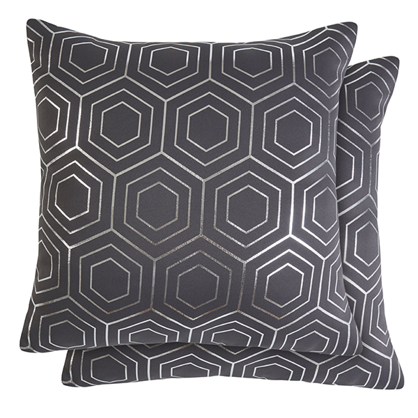 Hartford Cushion Cover Pair Charcoal