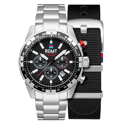 RGMT Gents Ltd Ed Help For Heros Navigator Chronograph Watch with Stainless Steel Bracelet