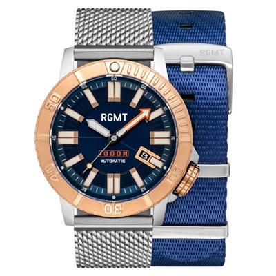 RGMT Gents Hydra Automatic Watch with Milanese Bracelet & Extra Strap