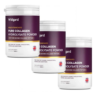 Wellgard Pure Collagen Powder 400g x 3 (90 day supply)
