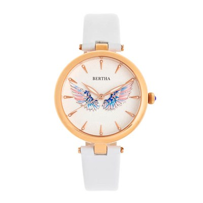 Bertha Ladies Micha Watch with Genuine Leather Strap