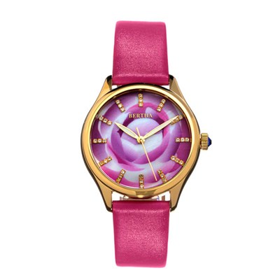 Bertha Ladies Georgiana Watch with Genuine Leather Strap