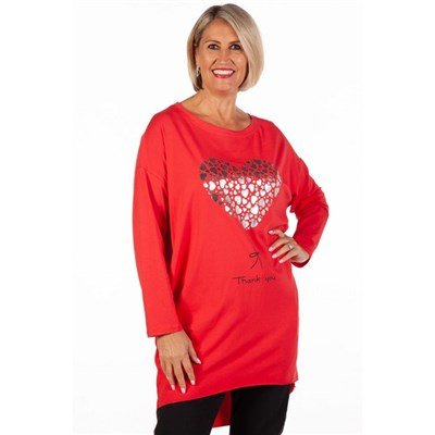 Fizz Red Thank You Tunic