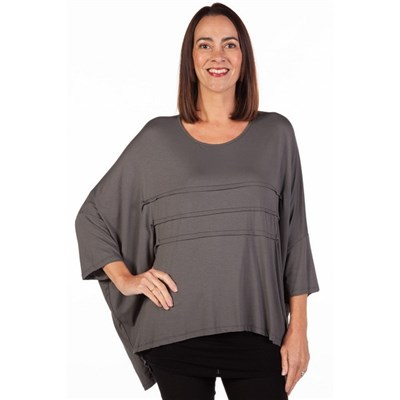 Fizz Charcoal Batwing Top