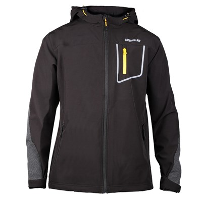 Caterpillar Capstone Mens Hooded Softshell Jacket / Workwear