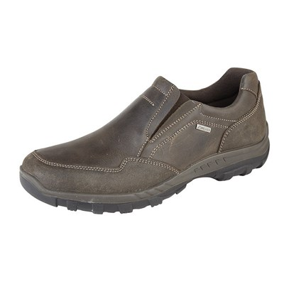 IMAC Mens Waxy Leather Water Resistant Casual Shoes