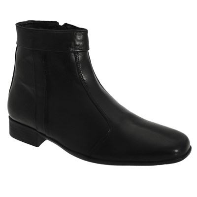 Scimitar Mens Inside Zip Pleated Ankle Boots