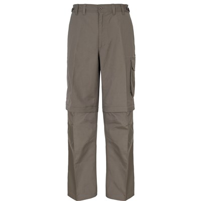 Trespass Mens Mallik Convertible Water Repellent Cargo Trousers