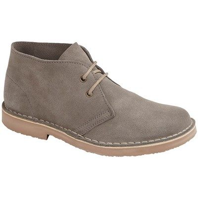 Roamers Mens Suede Leather Round Toe Desert Boot