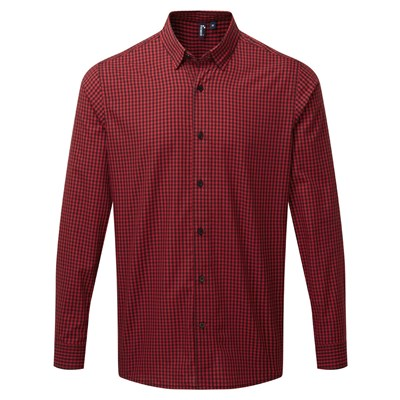 Premier Mens Maxton Check Long Sleeve Shirt