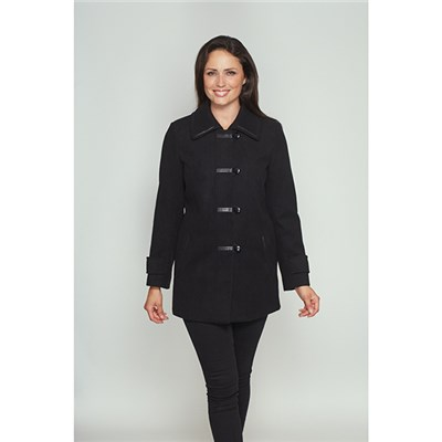 David Barry Kesta Leatherette Trim Coat