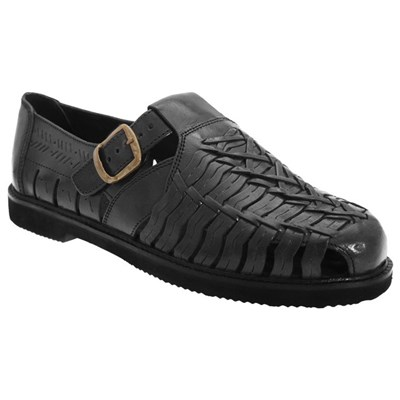 Scimitar Mens Leather Interlaced Sandals