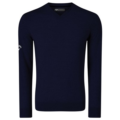 Callaway Mens Ribbed V Neck Merino Sweater