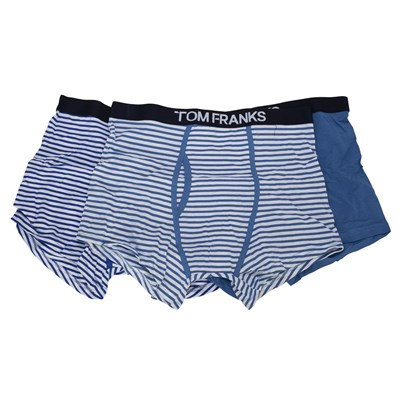 Tom Franks Mens Keyhole Boxers (Pack Of 3)