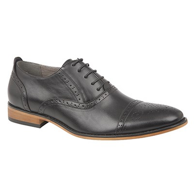 Goor Mens Capped Lace Oxford Brogue Shoes