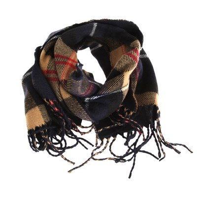 Tom Franks Mens Check Tartan Print Winter Scarf