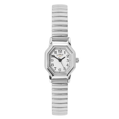 Limit Ladies Classic Octaganol Watch with Stainless Steel Expander Bracelet