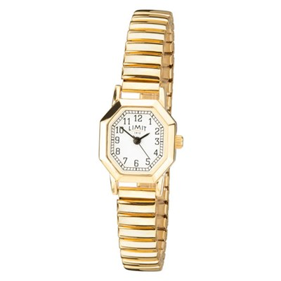 Limit Ladies Gold Classic Watch with Stainless Steel Expander Bracelet