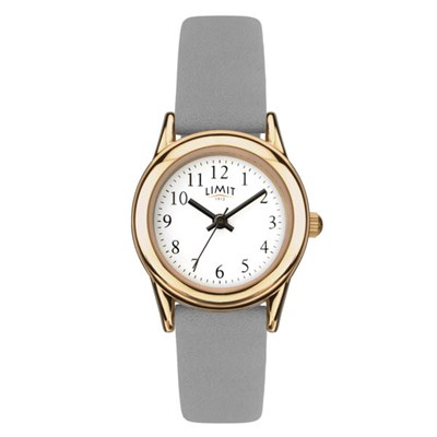 Limit Ladies Classic Round Rose Gold Plated Watch with Leather Strap