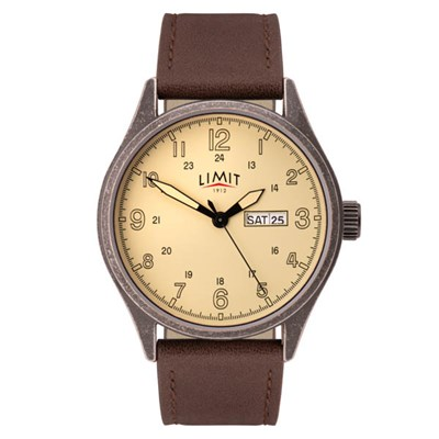 Limit Gents Pilot Watch with Genuine Leather Strap