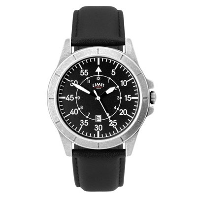 Limit Gents Pilot Watch with Leather Strap
