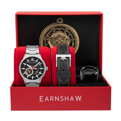 Thomas Earnshaw Gents Ltd Ed Ventus Automatic Watch with Stainless Steel Bracelet & Extra Strap