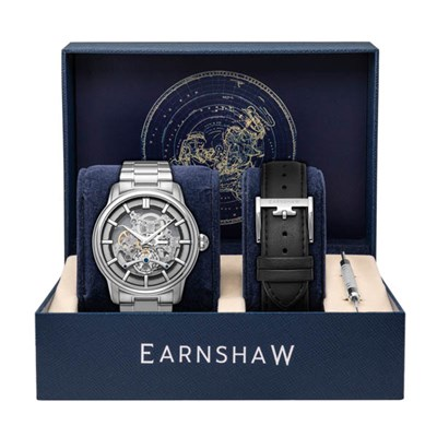Thomas Earnshaw Gents Ltd Ed Longitude Automatic Watch with Stainless Steel Bracelet & Extra Strap