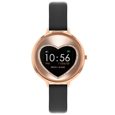 Reflex Ladies Series 3 Heart Smart Watch with Pu Leather Strap