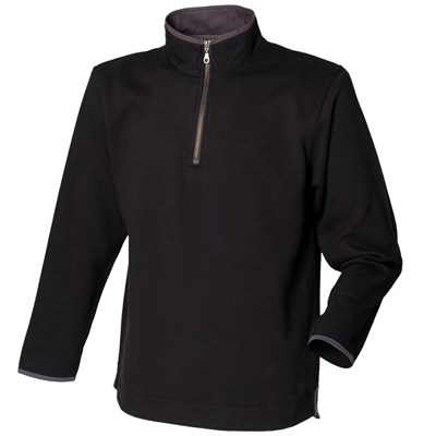 Front Row Mens Soft Touch 1/4 Zip Sweatshirt Top