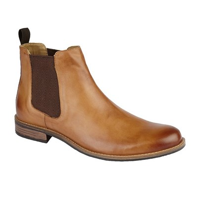 Roamers Mens Leather Gusset Boots