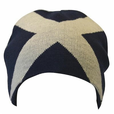 Mens Scotland Cross Design Winter Beanie Hat