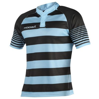 KooGa Mens Touchline Hooped Match Rugby Shirt