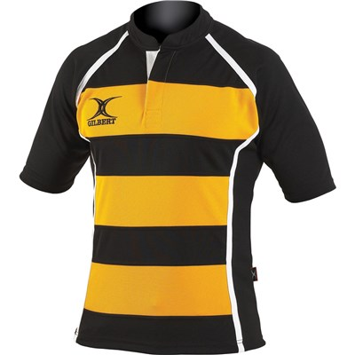 Gilbert Rugby Mens Xact Game Day Short Sleeved Rugby Shirt