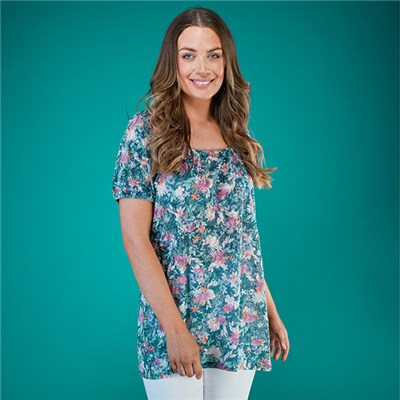 Emelia Burn Out Gypsy Top