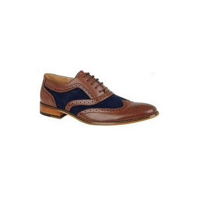 Goor Mens Oxford Two Tone Leather Brogues