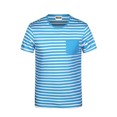 James And Nicholson Mens Organic Cotton Striped T-Shirt