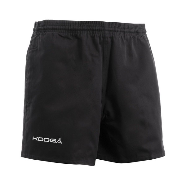 KooGa Childrens/Boys Murrayfield Rugby Shorts Xl Black