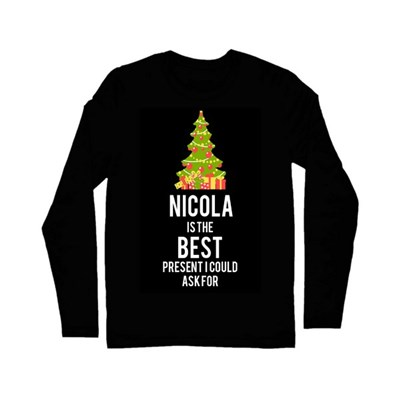 "Christmas Shop Mens Customisable ""...Is The Best"" Long Sleeve Tshirt"