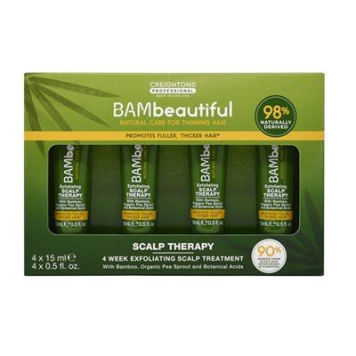 BAMbeautiful Scalp Therapy 4 Week Exfoliating Scalp Treatment (4 x 15ml)