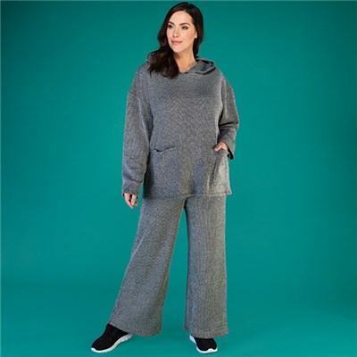 Mudflower Knitted Pocket Hoody with Trouser Set