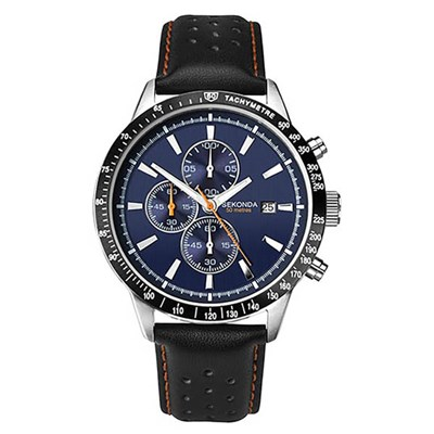 Sekonda Gents Chronograph Sports Watch with Genuine Leather Strap