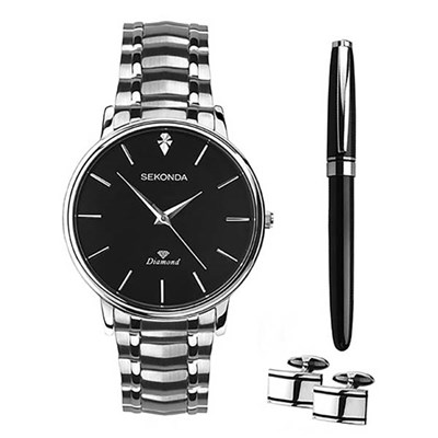 Sekonda Gents Watch Giftset with Pen and Cufflinks
